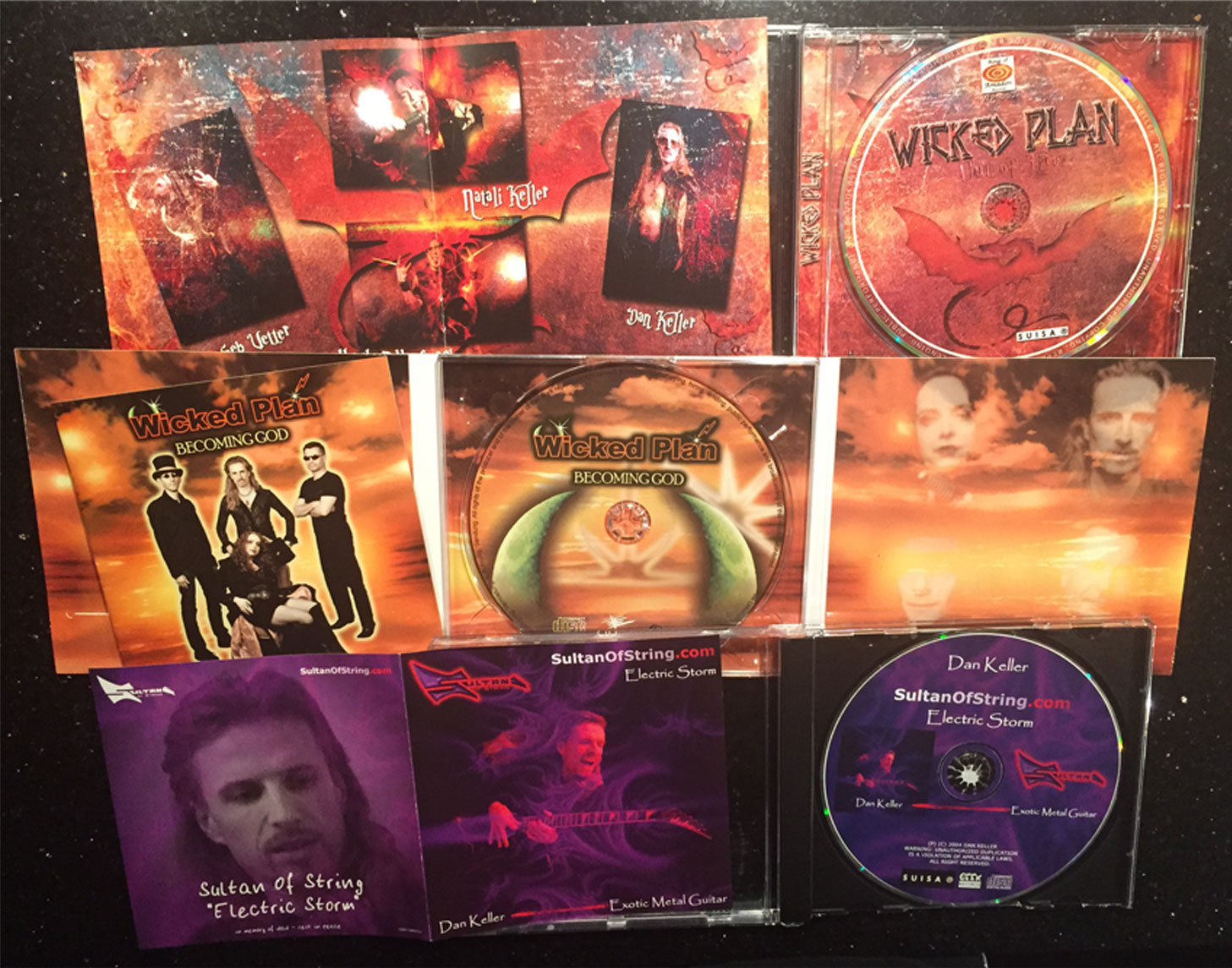 'Out of Fire' + 'Becoming God' + 'Electric Storm' (3 CDs) + signed Autograph Card