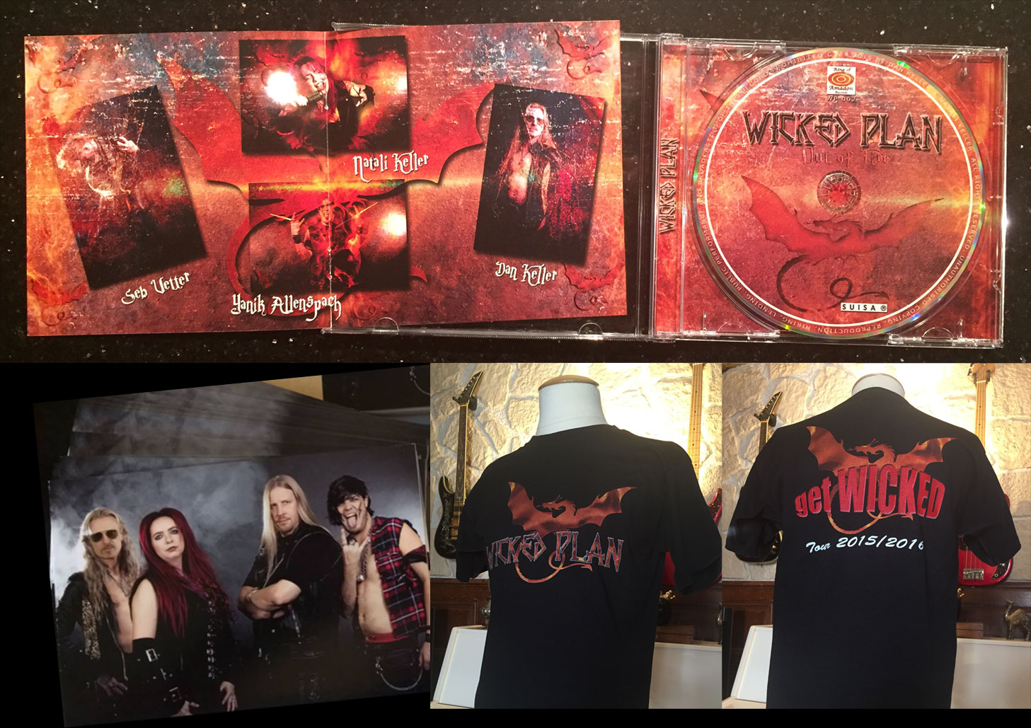 'Out Of Fire' CD + get WICKED T-Shirt