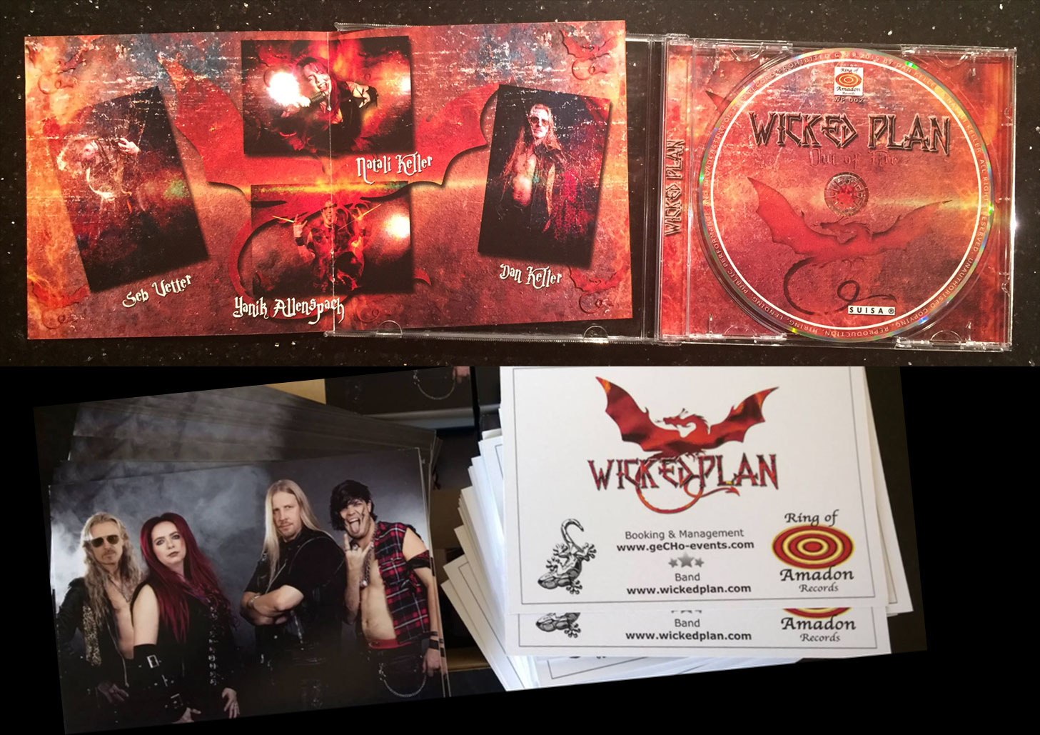 'Out of Fire' CD + signed Autograph Card